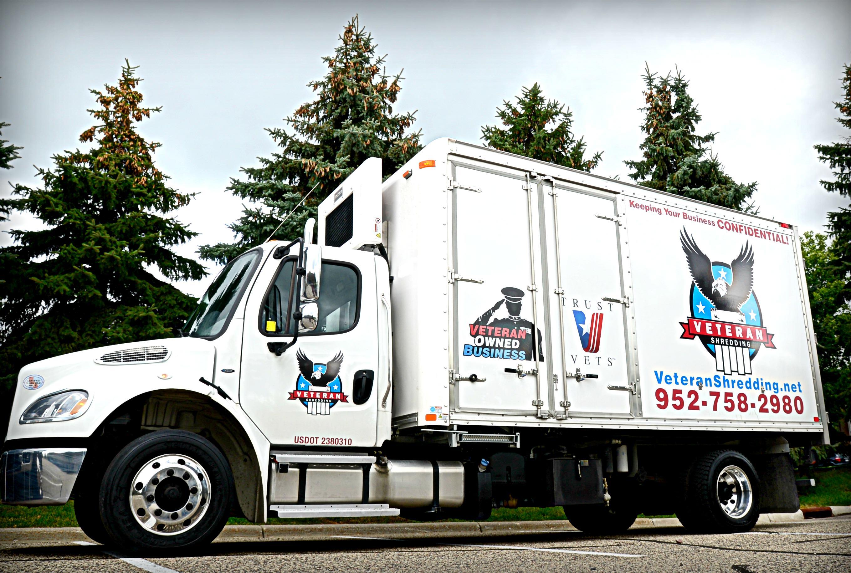 veteran shredding shred truck