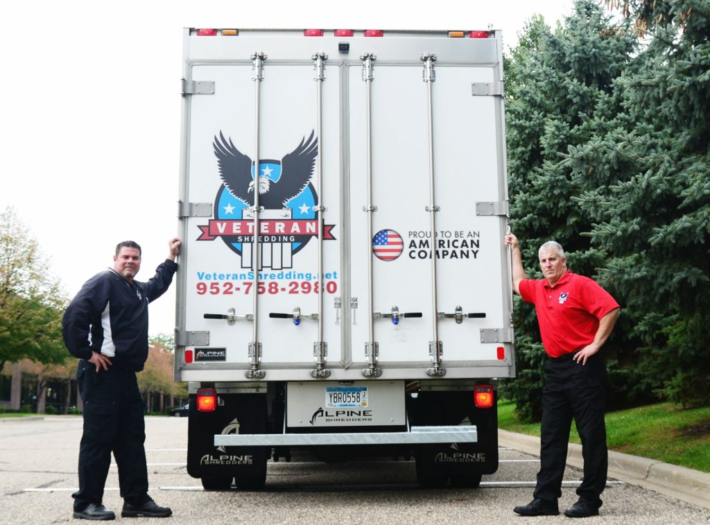 veteran shredding shred truck